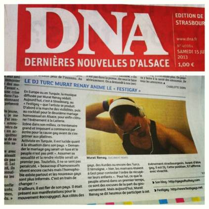 Murat Renay's French DNA newspaper interview