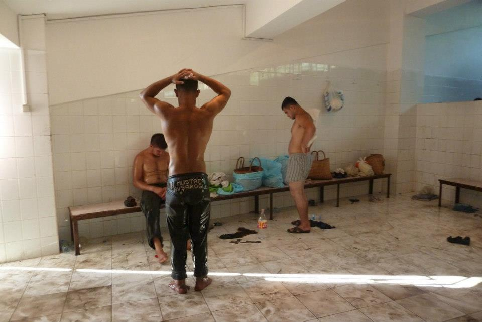 The most homo-erotic sport of all time:Turkish Oil Wrestling (with art of Ümit Ilgın Yigit)  (3/6)
