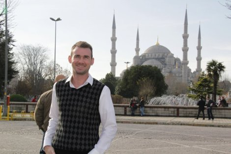Sean Powell during his İstanbul Trip
